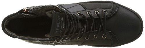 REPLAY Compat - Zapatillas Hombre Negro - Schwarz (Black 3)