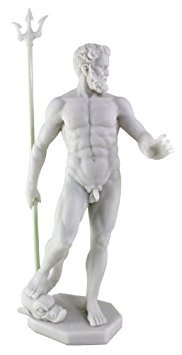 Poseidon Greek God of the Sea Statue Sculpture Nautical Figurine (Greek God Sculpture)