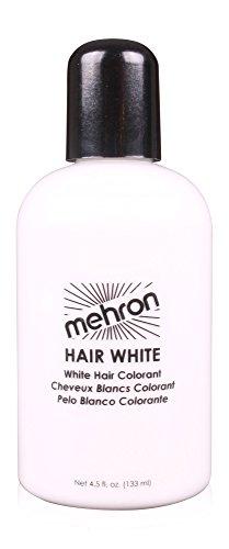 Mehron HAIR WHITE 4.5 Oz. Professional Washable Theatrical Hair Color (Colors Santa Claus)