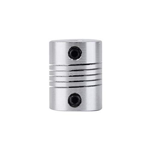Pudincoco Profesional 5x5 mm acoplador del Eje de mandíbula del Motor CNC 5 mm a 5 mm Acople Flexible de Aluminio de Alta...