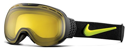 Nike Command Ski Goggles, Transitions Yellow, Black - Goggles Ski Nike