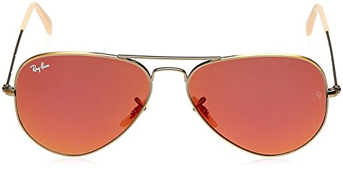 Bronze Unisex Metal Sunglasses Red Large ban Brushed Mirror Demiglos Ray Aviator Rb3025 SIxXwYz