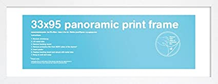 3f82c63f4acd Gb Eye Ltd FMPNA1WH Panoramic Print Frame