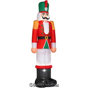 Gemmy 9 ft inflatable sky high airblown for Airblown nutcracker holiday lawn decoration