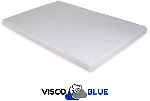 Visco Blue Topper Viscoelástico, Premium, 90x180 cm, Grosor 6 cm ...