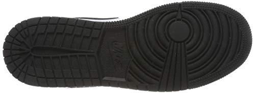 Nike Boy's Air Jordan 1 Mid (GS) Shoe White/Black-Hyper Royal/University Red, Size 3.5 M US Big Kid by Nike (Image #3)