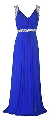 Conail Coco Women's Tulle Beading A-Line Bridesmaid Prom Dresses Long Cocktail Evening Gowns (S,98blue)]()