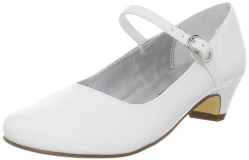 Nina Seeley Heel Buckle Mary Jane (Little Kid/Big Kid), White Smooth, 2.5 M US Little Kid ()