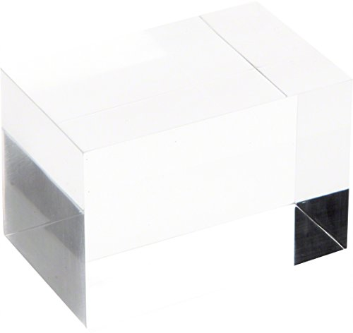 Plymor Brand Clear Polished Acrylic Rectangular Display Block, 2