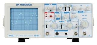 (B&K Precision 2120C Analog Oscilloscope, Dual Trace, 30 MHz Bandwidth)