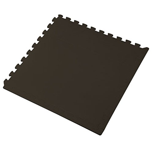 We Sell Mats Foam Interlocking Square Floor Tiles with Borders, (Each 2 x 2 Feet),   16 SQFT (4 Tiles + Borders) - Black by We Sell Mats (Image #3)
