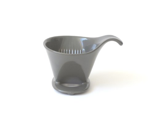 Bee House Ceramic Coffee Dripper - Drip Cone Brewer (Steel - Ceramic Bee