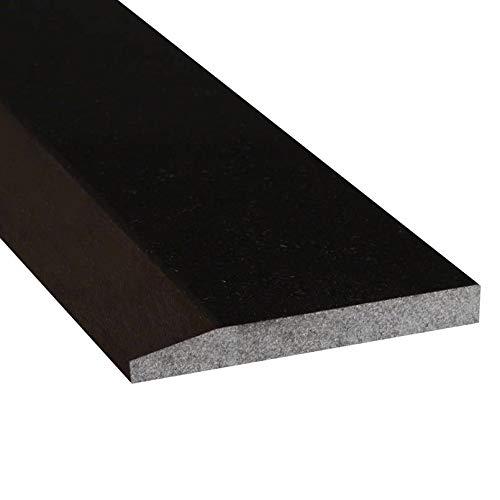 - Single Hollywood Granite Door Saddle - Black Absolute Threshold - 36 x 6 Inch