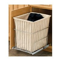 Rev-A-Shelf RSHRV.1520 S CR 19.38 in. H Wire Pullout Hamper-Chrome