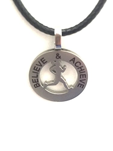 Runner Girl Mantra Charm Necklace product image