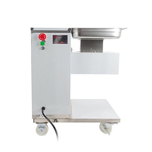 Stainless Steel Electric Commercial Meat Slicer Meat Cutting Machine Meat Grinder Cutter Slicer For Restaurant School 500KG Output With Pulley 550W (4mm blade) (Grinder 550w Meat)