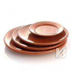Cazuela Keramikteller Brotteller, braun 16,5cm