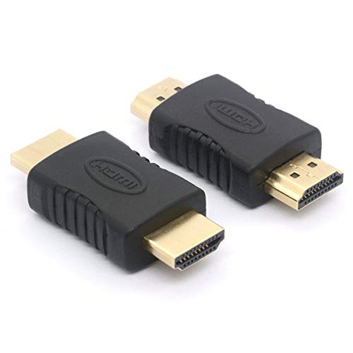 HDMI Coupler, HDMI Male to HDMI Male Straight in-line Coupler Adapter 19 Pin HDMI Connector for ()