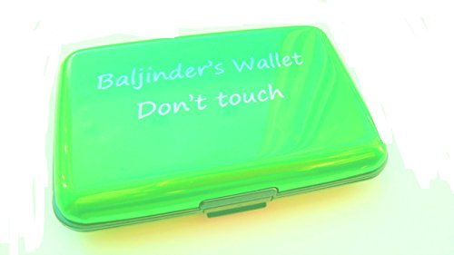 WAY CHOOSE OR STANDARD PLEASE WALLET AVAILIBLE PERSONALISED PINK PERSONALISED ALUMINIUM OWN IT HERE YOUR PERSONALISED GREEN MANY HAVE COLOURS p8qAFFOw