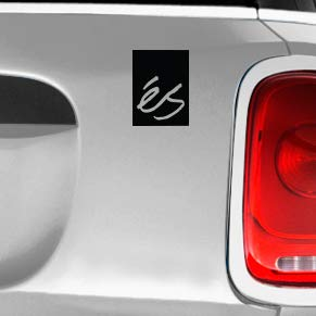 ES Skate SK8/Surf/Snow/Water/Bike/Brands Automotive Decal/Bumper Sticker ()