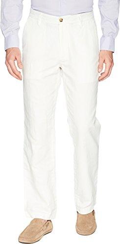 Nautica Men's Flat Front Linen Pant, Marshmallow, 32W 32L