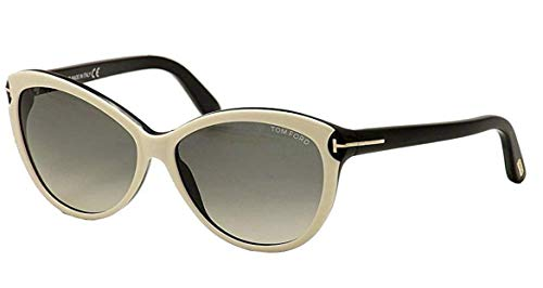 Tom Ford 0325/S 25B White Telma Cats Eyes Sunglasses Lens Category 2 Size ()
