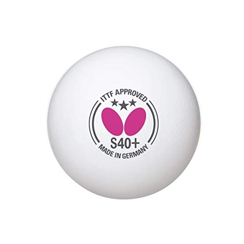 Butterfly S40+ Table Tennis Balls | 3 Star Ping Pong Balls | 40mm White Butterfly Ping Pong Ball | 3 Pack or 12 Pack | ITTF Tournament Professional Table Tennis Ball | Poly Table Tennis Ball