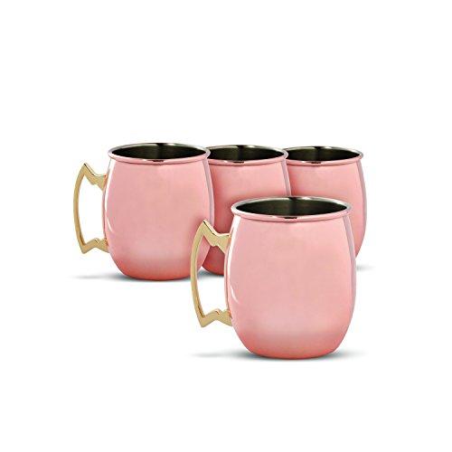 Cambridge Silversmiths 4 Piece Moscow Mule Mug Set, 20 oz, Copper