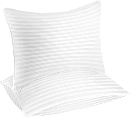 Utopia Bedding Premium (8 Pack) Premium Plush Gel Pillow - Fiber Filled Bed Pillows - Queen Size 20 x 28 Inches - Cotton Pillows for Sleeping - Fluffy and Soft Pillows