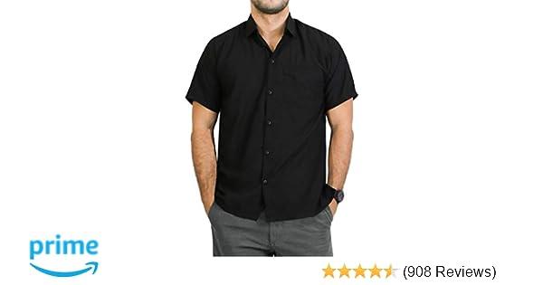 10749801 LA LEELA Men's Aloha Hawaiian Shirt Short Sleeve Button Down Casual Beach  Party Blue at Amazon Men's Clothing store: