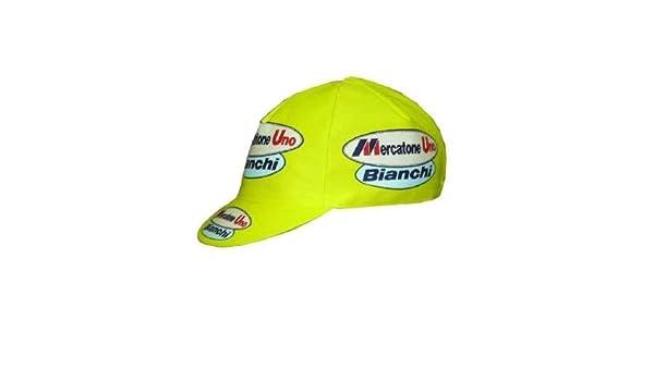 Apis Gorra Ciclismo Team Vintage Mercatone Uno Bianchi Cycling Cap ...