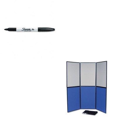 KITQRTSB93516QSAN30001 - Value Kit - Quartet ShowIt Six-Panel Display System (QRTSB93516Q) and Sharpie Permanent Marker - Panel 6 Display System