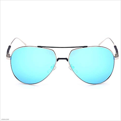 Les Vacances Metal Party de Frame Beach Partie Bleu UV Bleu de Couleur Protection pêche pêche de Lunettes de Sunbobo Driving pour Femmes Soleil Vacation R6nqvd465P