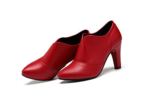 Toe Fashion Pump Womens Red High Boot Hell Pointed Ankle Bootie Dethan Etpgnqq