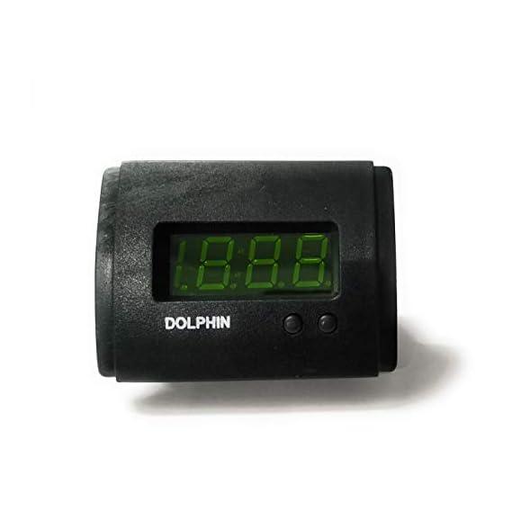 Dolphin Car Accessories Maruti ZEN Digital Car Clock (Standard size, Black and Green)