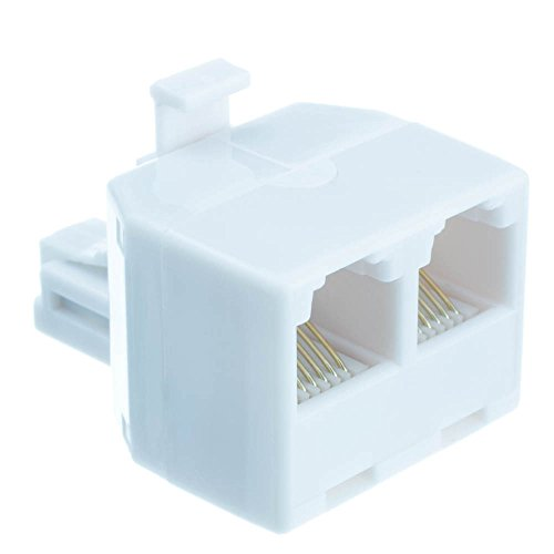 Phone Splitter  Straight   Rj11 Rj12 Male To Two Rj11 Rj12 Female