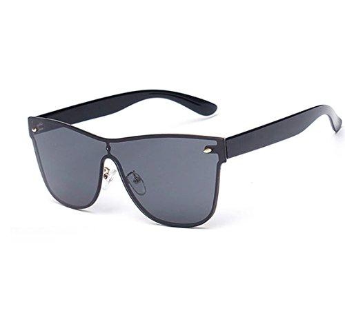 f7667b7077 GAMT Rimless Wayfarer Sunglasses Futuristic Shield Mirrored Design - Buy  Online in UAE.