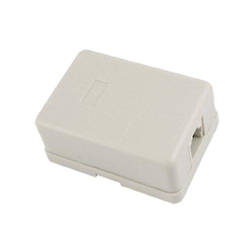 DealMux plstico resistente Feminino RJ11 superfcie montar Telefone Jack w Ligao Bloco Bege