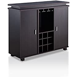 HOMES: Inside + Out Loralei Contemporary Style Wine Storage Buffet, Espresso