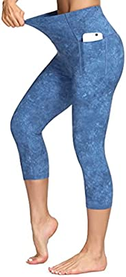 Dragon Fit High Waisted Leggings for Women Tummy Control Workout Running Yoga Pants with Pockets