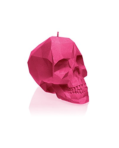 Candellana Candles Small Skull, Dark Pink