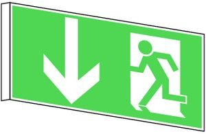 0706. Bandera Cartel salida de emergencia Salida de ...