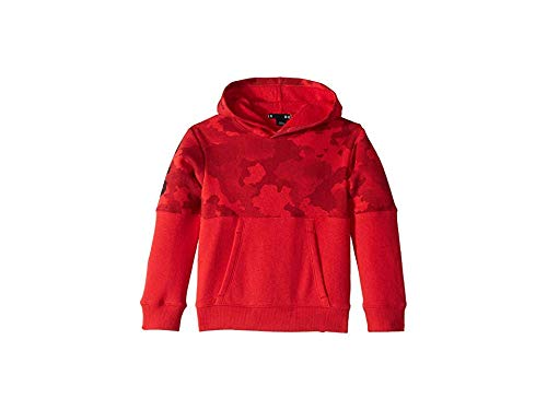 - Under Armour Boys' Little Pull Over Hoody with Pocket, Traverse camo red, 7