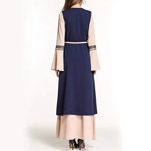 Per Maxi Abayas Lunga Donna Manica Kaftan A Line Dubai Dress Islamic Fashion Saudita Chyedas 1Zxaq6w4w