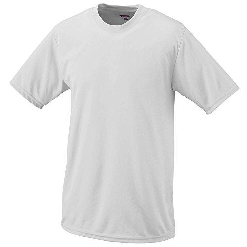Augusta Sportswear Teen-Boy's Wicking t-Shirt, White, Medium (Shirt Wicking Kids)
