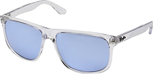 Ray-Ban Men's Nylon Man Non-Polarized Iridium Square Sunglasses, Trasparent-2, 60 - Ray Frame Transparent Ban