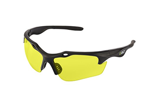 Yellow Eyewear (EGO Power+ GS003 Anti-scratch Safety Glasses with 99.99-Percent UV Protection and ANSI Z87.1 Standards, Yellow Lens)