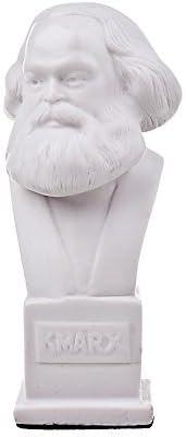 German Philosopher Socialist Karl Marx Stone Bust Statue Sculpture 15 cm brown