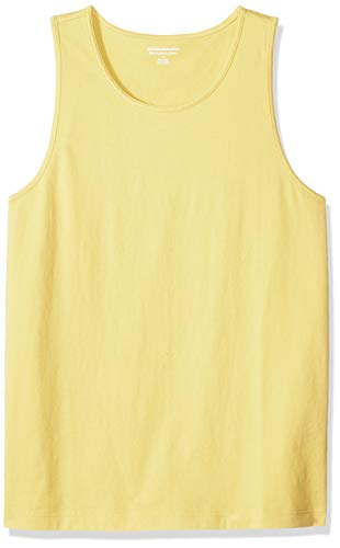 Amazon Essentials Men's Slim-Fit Solid Tank Top, Yellow, X-Large