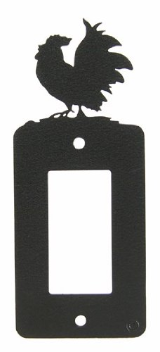 Innovative Fabricators, Inc. Poultry Chicken Rooster GFI Rocker Light Switch Plate Cover (Rooster Switchplate)